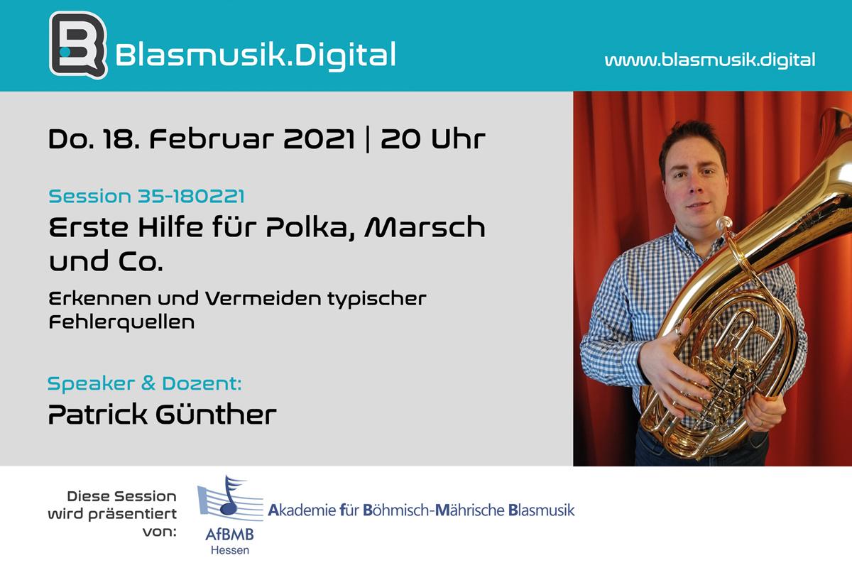 Patrick Günther - Speaker bei Blasmusik.Digital - Die Online Akademie für Blasmusiker