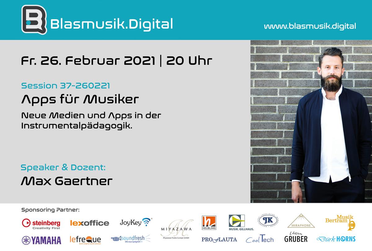 Max Gaertner - Speaker bei Blasmusik.Digital - Die Online Akademie für Blasmusiker