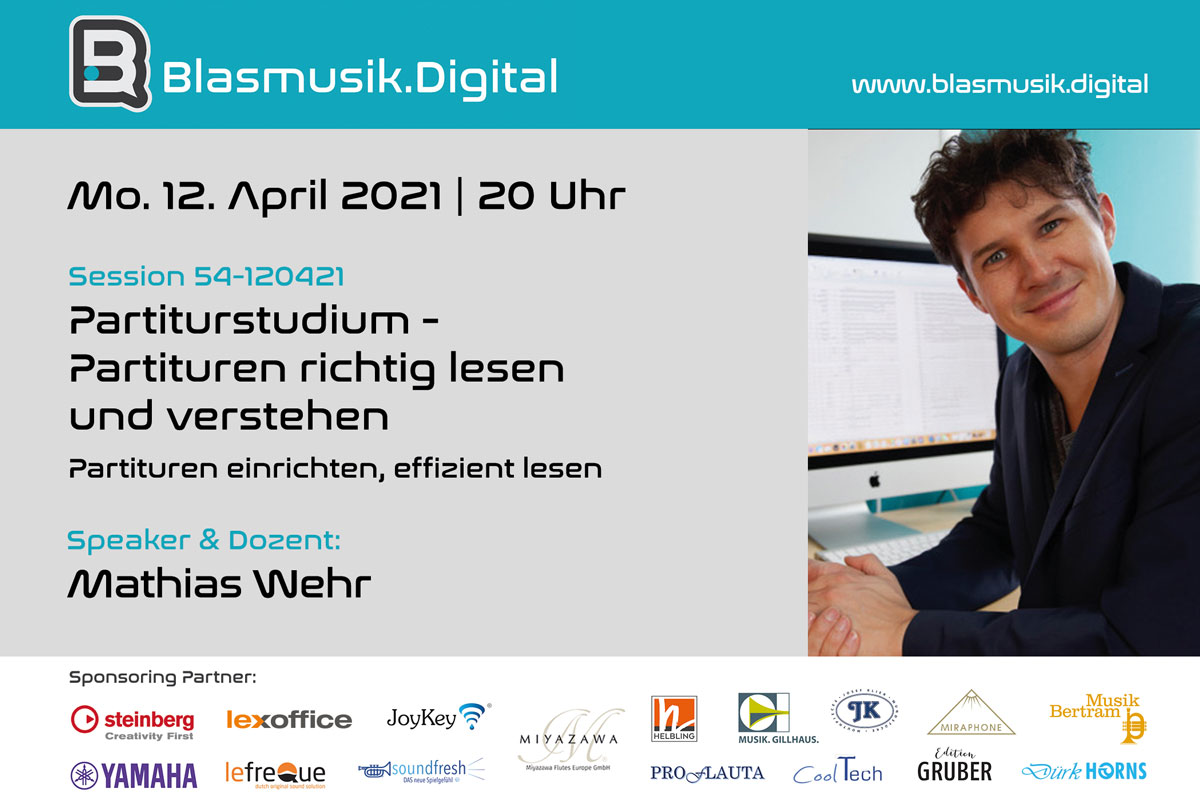 Partiturstudium mit Mathias Wehr - Blasmusik.Digital