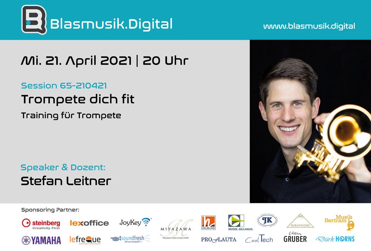 Stefan Leitner - Trompete dich fit - Online Seminar auf Blasmusik.Digital