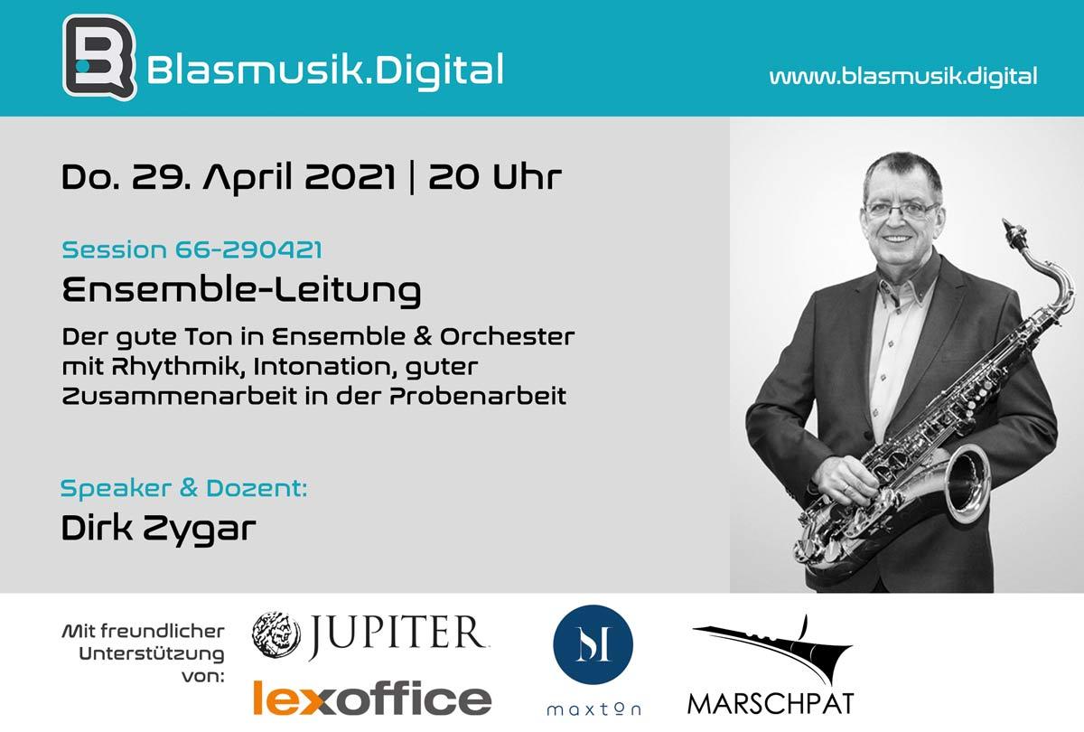 Ensemble Leitung - Online Seminar auf Blasmusik.Digital mit Dirk Zygar