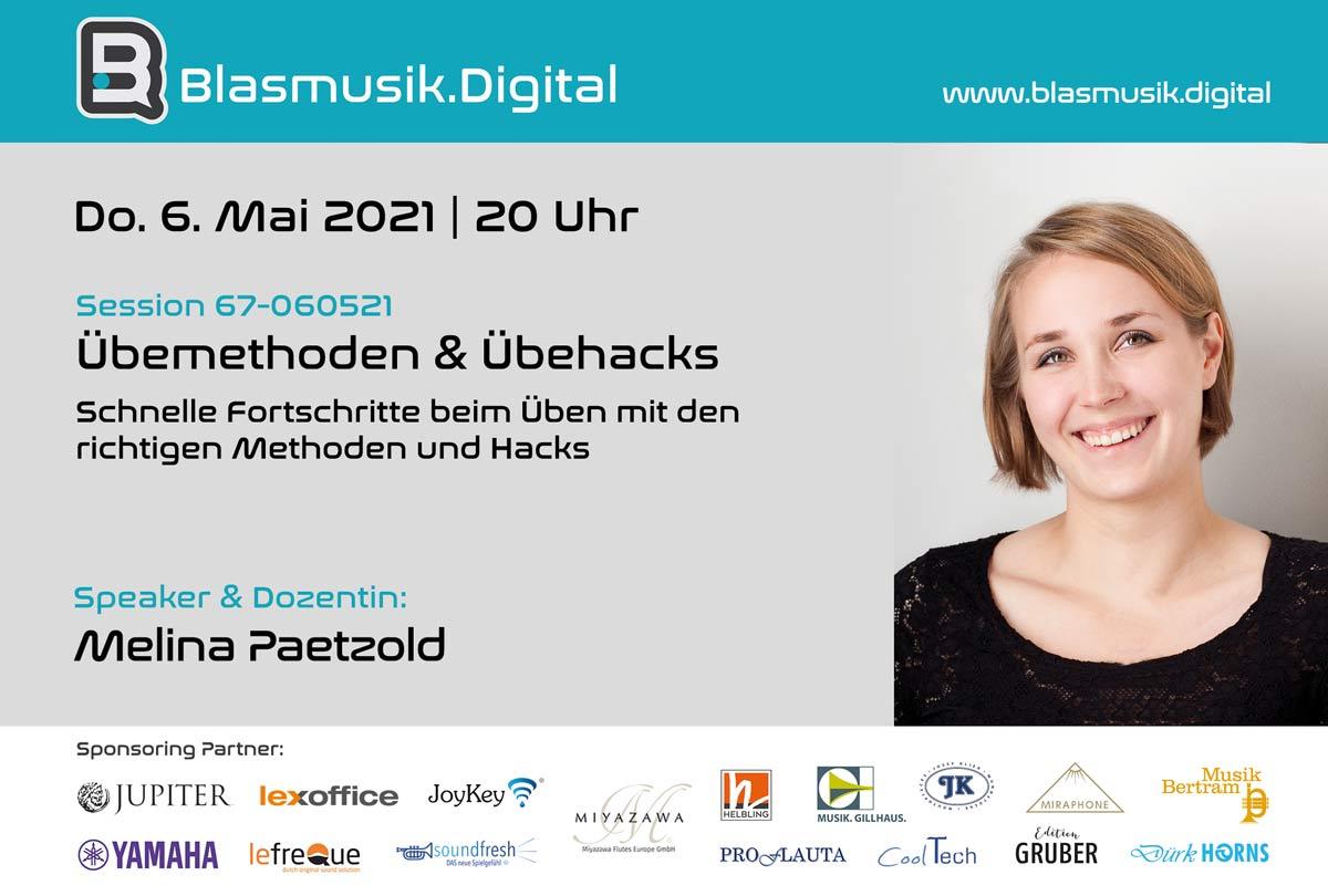 Übemethoden und Übehacks mit Melina Paetzold - Blasmusik.Digital