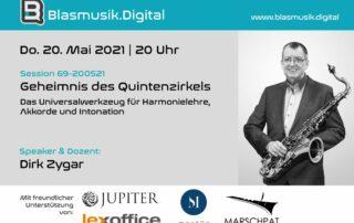 Geheimnis des Quintenzirkel - Online Seminar auf Blasmusik.Digital mit Dirk Zygar