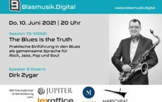 Das Geheimnis des Blues - Online Seminar auf Blasmusik.Digital mit Dirk Zygar