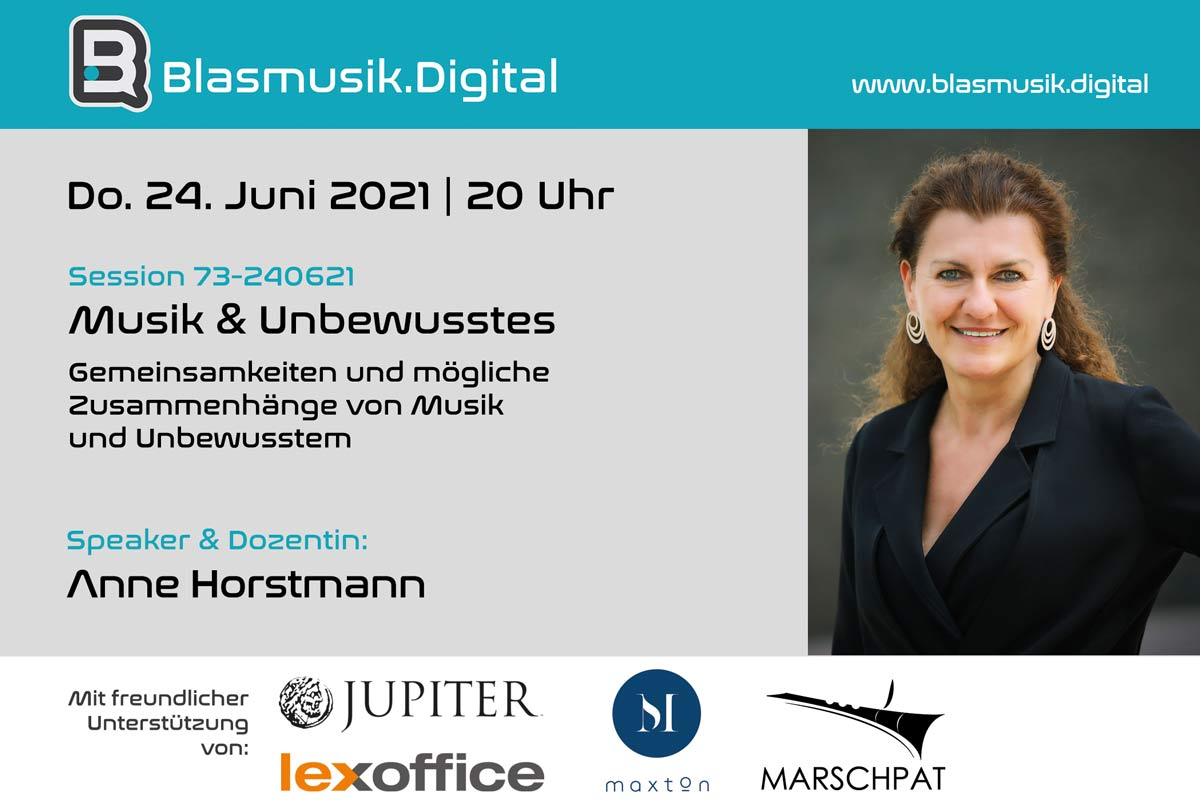 Musik und Unbewusstes - Online Seminar mit Anne Horstmann auf Blasmusik.Digital