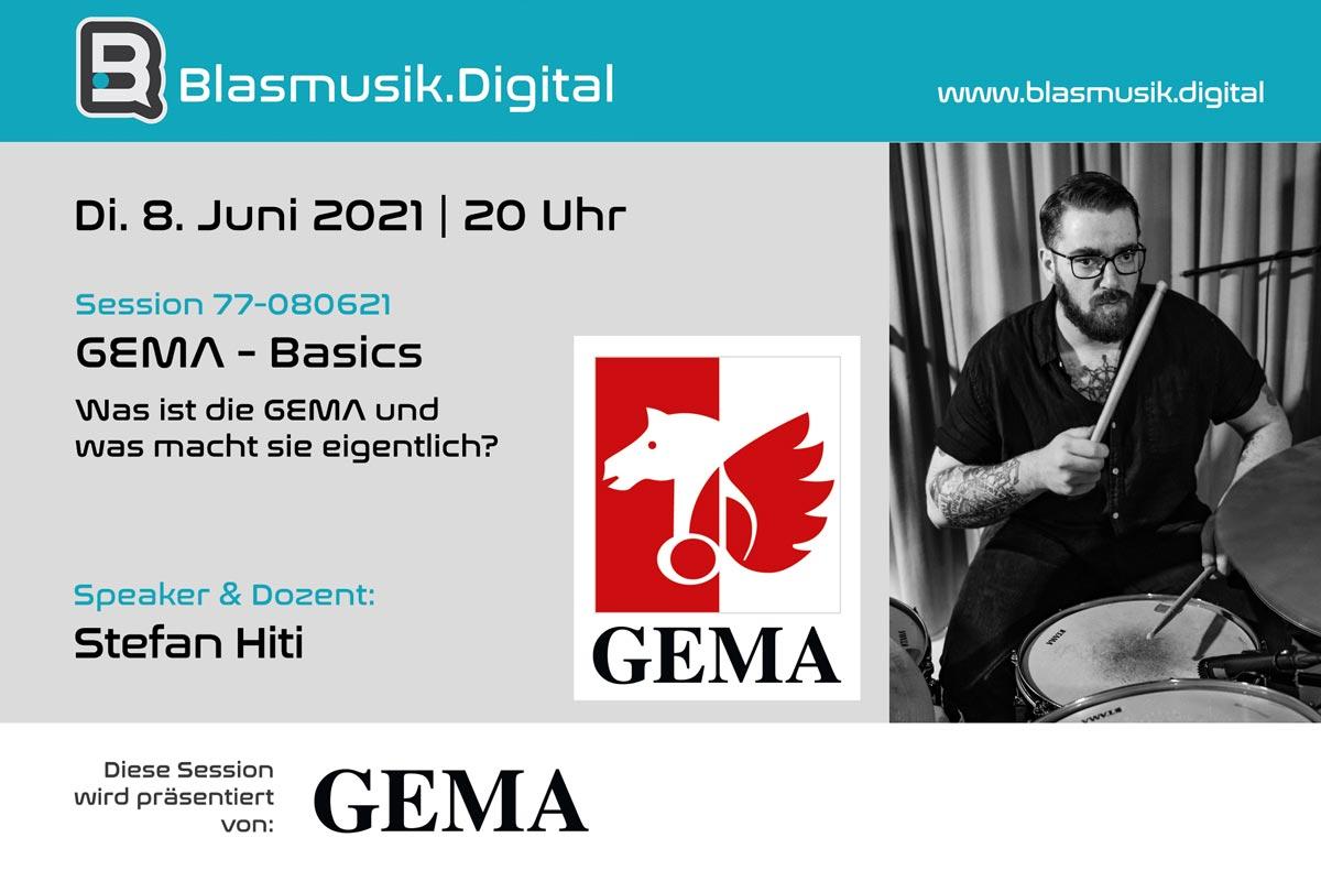 GEMA Basics - Was ist die Gema - Stefan Hiti - Online Seminar auf Blasmusik.Digital