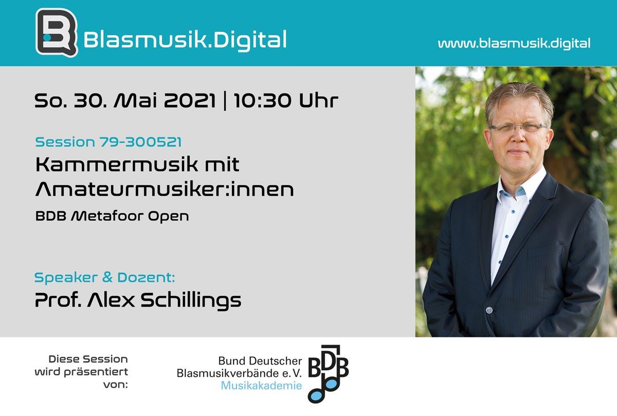 Kammermusik und Ensembles - Online Seminar mit Prof. Alex Schillings