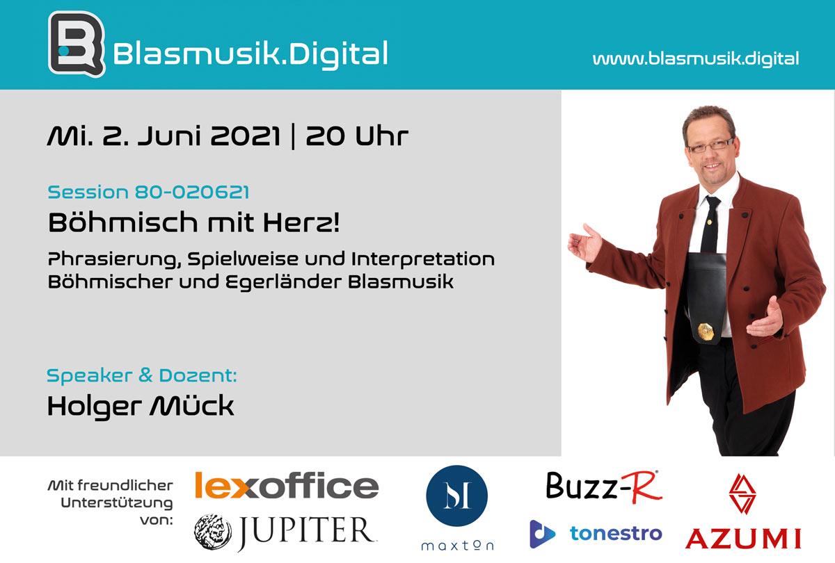 Böhmisch mit Herz mit Holger Mück - Online Seminar auf Blasmusik.Digital
