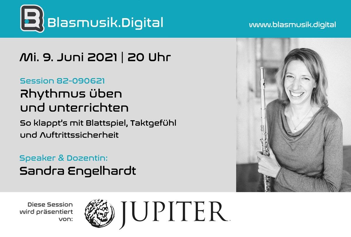 Rhythmus üben und unterrichten - Online Seminar mit Sandra Engelhardt auf Blasmusik.Digital
