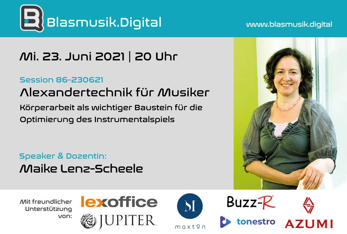 Alexandertechnik für Musiker mit Maike Lenz-Scheele - Online Seminar auf Blasmusik.Digital