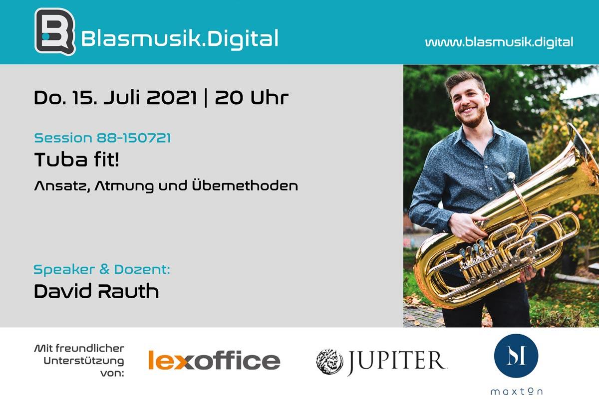 Tuba fit! - Online Seminar auf Blasmusik.Digital mit David Rauth