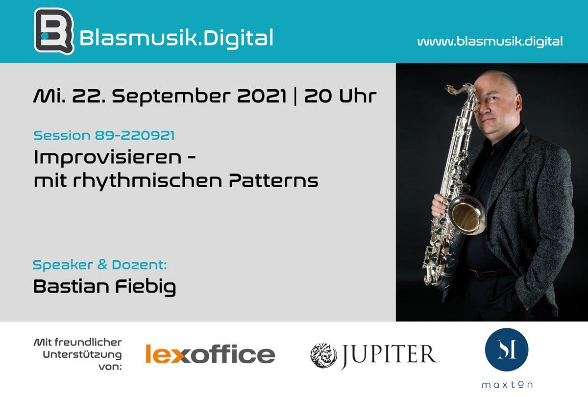 Improvisieren - Online Seminar auf Blasmusik.Digital mit Bastian Fiebig
