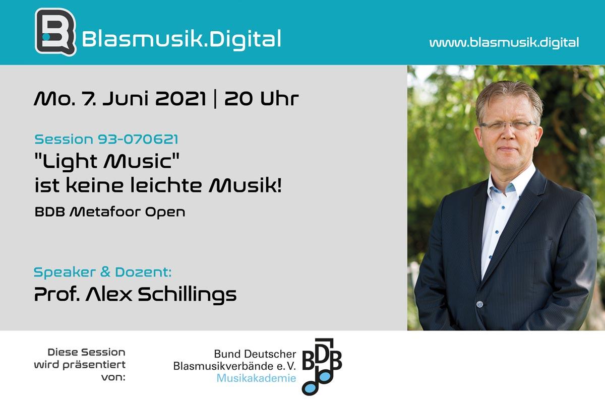 Light Music - Online Seminar mit Prof. Alex Schillings