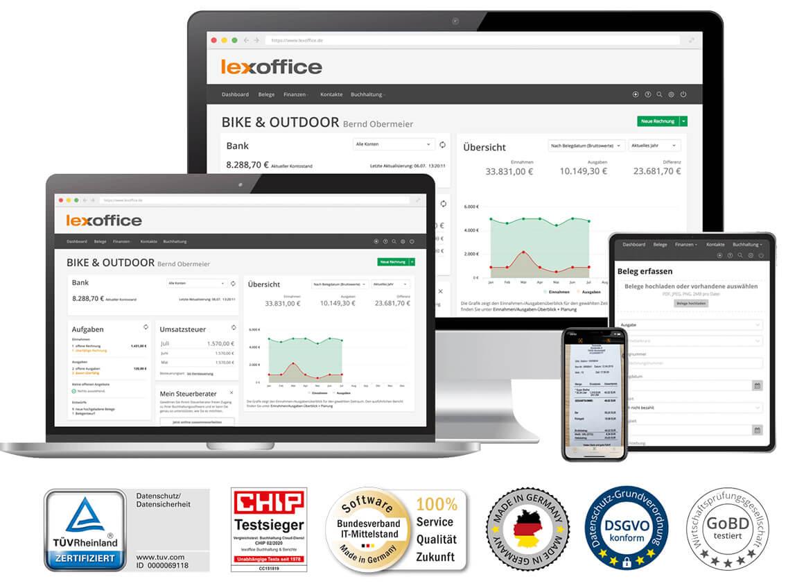 lexoffice - Automatische Online Buchhaltung - Sponsor von Blasmusik.Digital - Die Online Konferenz für Blasmusiker