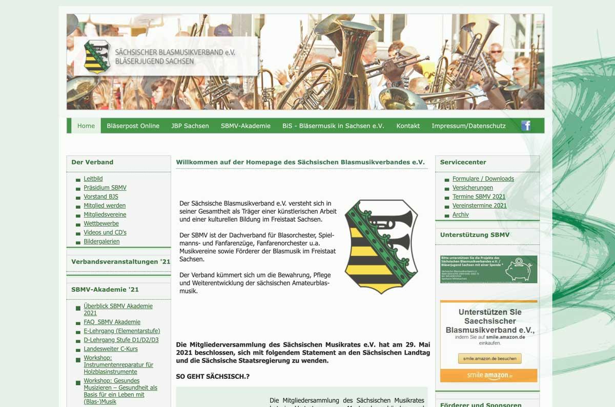 Sächsischer Blasmusikverband ist Kooperationspartner von Blasmusik.Digital